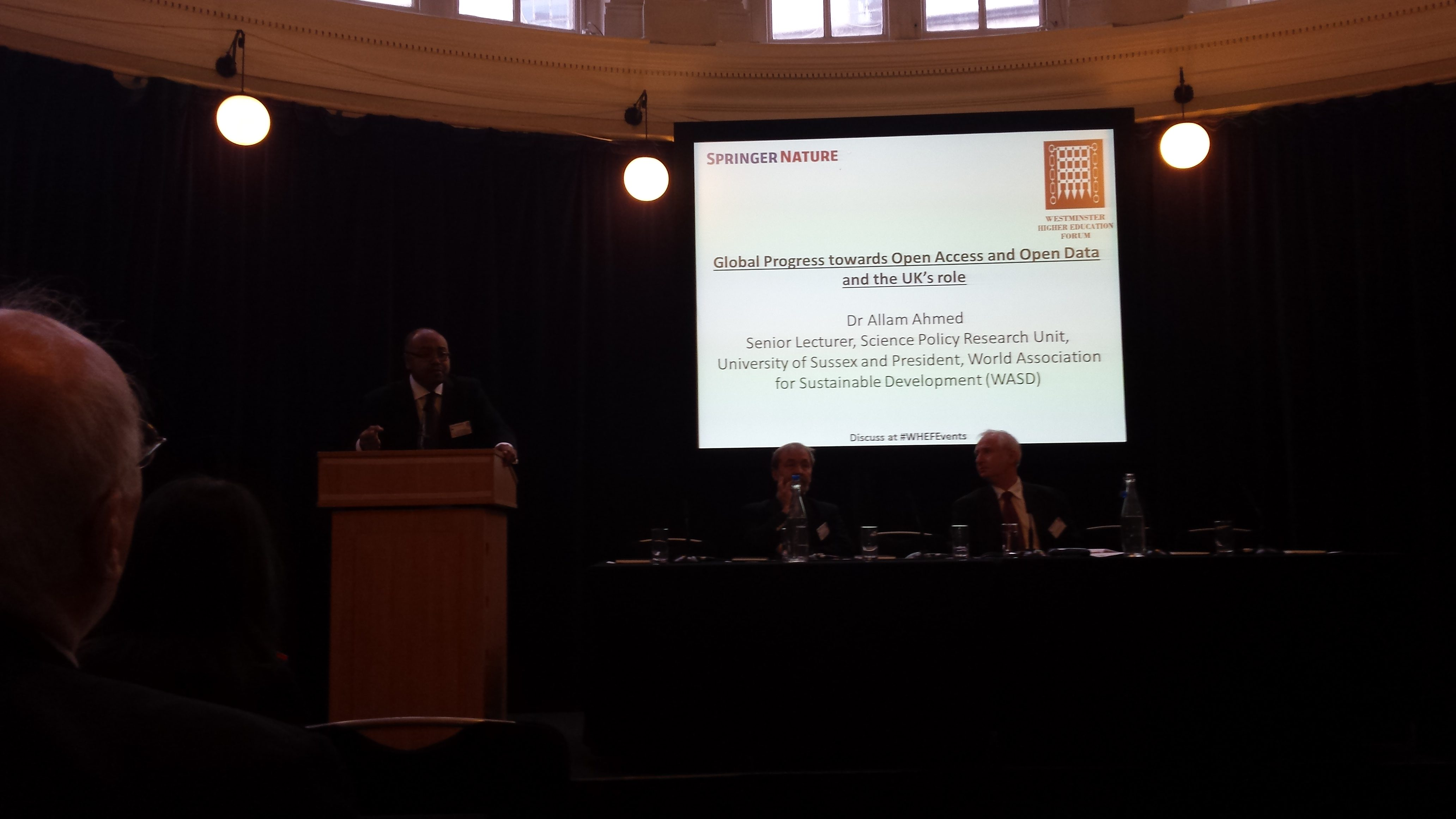 Global progress towards open access and open data and the UK's role