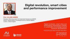 بروفيسور علام النور في افتتاح مؤتمر الثورة الرقمية والمدن الذكية وتحسين الأداء والتنمية المستدامة