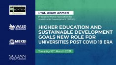Higher Education and Sustainable Development Goals: New Role for universities Post Covid 19 Era